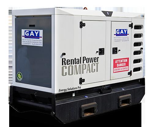 Groupe électrogène Rental power Compact